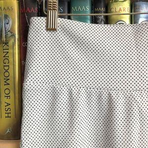 LuLaRoe Skirts - LuLaRoe White Black Polka Dot Cassie Pencil Skirt